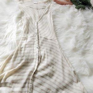 POSTAGE STAMP Anthro Striped Swing Tank Dress Sm